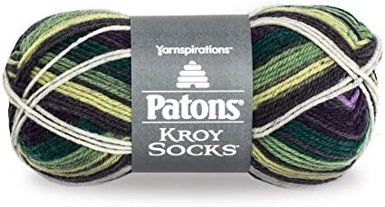 Spinrite 243455-55015 Kroy Socks Yarn-Bramble Stripes 6Pk