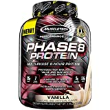 MuscleTech Phase8 Protein Powder, Sustained Release 8-Hour Protein Shake, Vanilla, 4.6 Pounds (2.09kg)