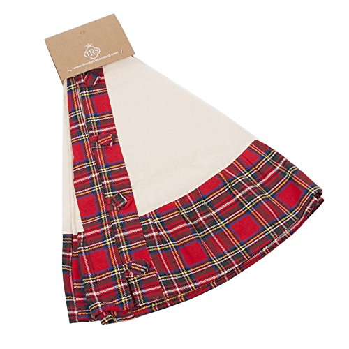 Breckenridge Red Plaid 52 Inch Cotton Ruffle Christmas Tree Skirt by The Royal Standard