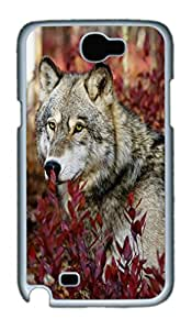 Cool Protective PC Case Skin for Samsung Galaxy Note2 N7100 with Wolf Woods (White)
