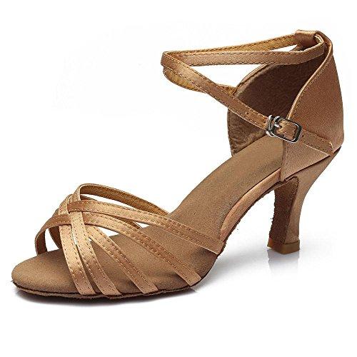 chers d'Amérique Chaussures de professionnelle 5 à Beige latine 5CM des talons femmes danse YFF Bal A1zw4qq
