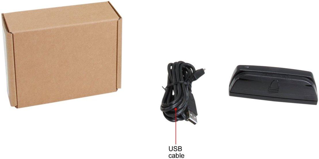 MagTek 21073062 Dynamag Magnesafe Triple Track Magnetic Stripe Swipe Reader with 6 USB Interface Cable Black 5V