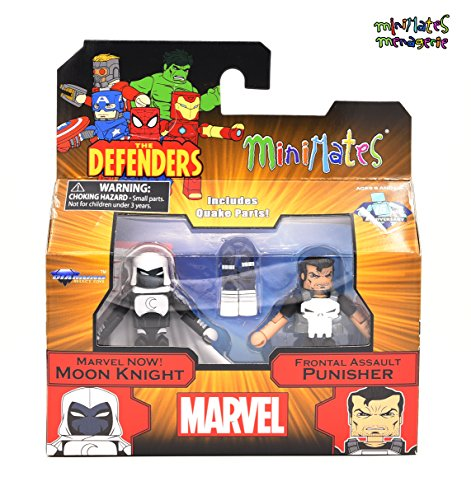 Marvel Minimates Series 75 Marvel Now! Moon Knight & Frontal Assault Punisher 2-Pack]()