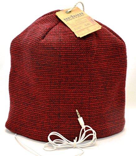 Urban Pipeline Winter Beanie Hat with Headphones Red