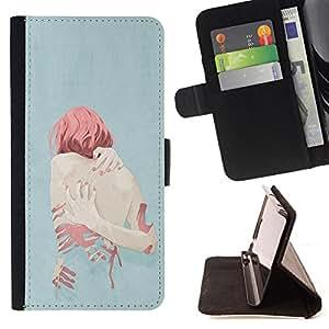 /Skull Market/ - DEPRESSION HEARTBREAK SAD REDHEAD GINGER For Samsung Galaxy S5 V SM-G900 - Caja de la carpeta del tir???¡¯???€????€??????&a