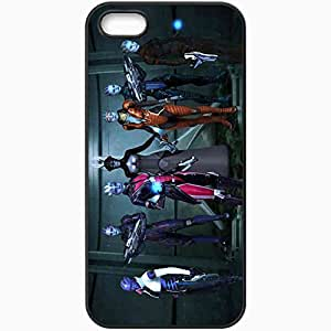 Personalized iPhone 5 5S Cell phone Case/Cover Skin Asari Girls Biotics Costumes Weapon Pose Black