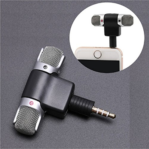 (Iuhan Professional Mini Recorder Stereo Voice Digital Mic Microphone Portable (for Smartphones, Black))