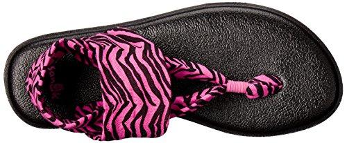 Yoga Flip Sanuk Zebra Fuchsia Flop Sling Kids Burst ZS55xRqUP