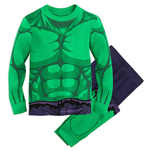 Marvel Hulk Costume PJ PALS for Kids Size 4 Multi -