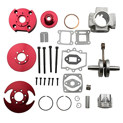 (GOOFIT 44mm Big Bore 53cc 54cc Top End Kit for 2 Stroke 47cc 49cc Engine Mini Quad Pocket)