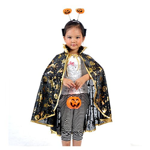 Gold Halloween Costume Kids Cloak Shawl Cosplay Costume Decoration (Style (Lion Killer Halloween Costume)