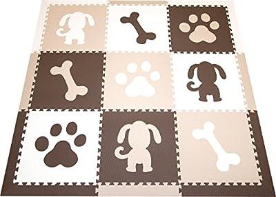 SoftTiles Dog Theme Premium Interlocking Foam Large Children's Playmat 78†x 78â€