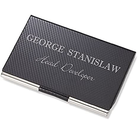 Amazon personalized carbon fiber business card case holder personalized carbon fiber business card case holder engraved free colourmoves