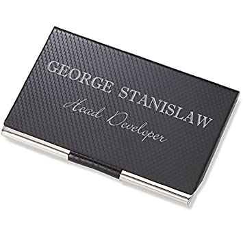 Amazon personalized carbon fiber business card case holder personalized carbon fiber business card case holder engraved free colourmoves Choice Image
