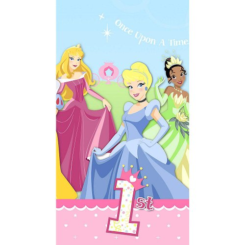 (Disney Princess 1st Birthday Plastic Table Cover (1ct))