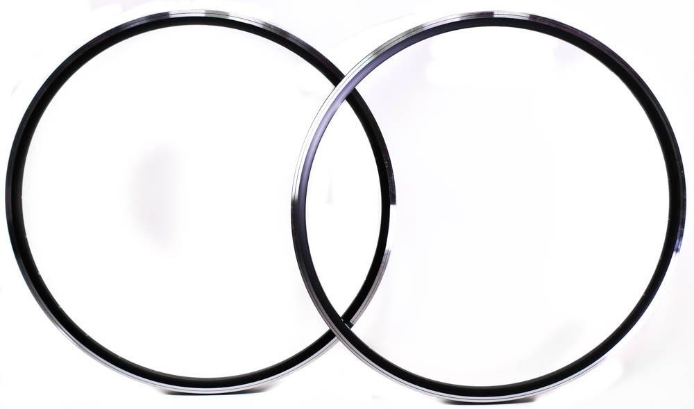 Lot of 2 Rims Aluminum Alloy 700c Black 28 Hole Italian Pair Presta Rd Bike NEW