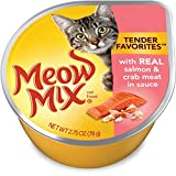 Meow Mix Tender Favorites Salmon and Crab, 2.75 oz (Pack of 12)