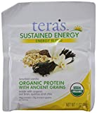 tera's: Organic Sustained Energy Protein Blend, Bourbon Vanilla, 1 oz (Pack of 12)