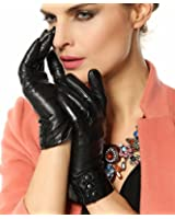 Bestselling Womens Touchscreen Texting Driving Winter Warm Nappa Leather Gloves (Fleece or Cashmere Lining)