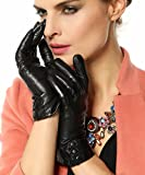 Apparel : Warmen Women's Touchscreen Texting Driving Winter Warm Nappa Leather Gloves (Fleece or Cashmere Lining)