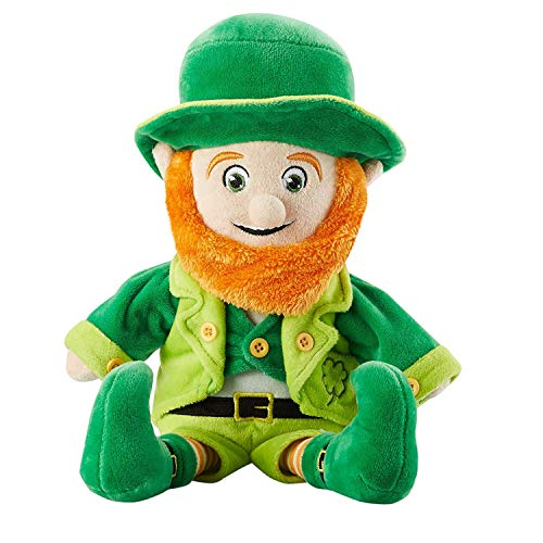Juvale Leprechaun Plush Toy - Lucky The Leprechaun, Cute Stuffed Toy for Kids, Mr. O'Leary Soft Plushies for St. Patrick's Day Gifts, Green, 9 x 14 Inches -