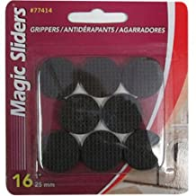 MAGIC SLIDERS L P Surface Protectors, Gripper Pads, Self-Stick, 1-In. Round, 16-Pk.