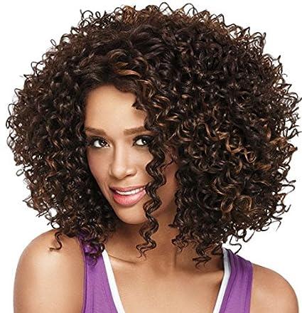 peluca rizada Pelucas de pelo corto rizado; pelucas de pelo afro rizado para mujeres negras