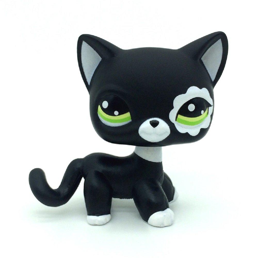 ZAD Littlest Pet Shop Rare Black Short Hair Cat Kitty Animal Figure Tpy LPS
