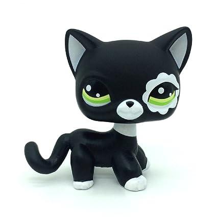 Amazoncom Zad Littlest Pet Shop Rare Black Short Hair Cat Kitty