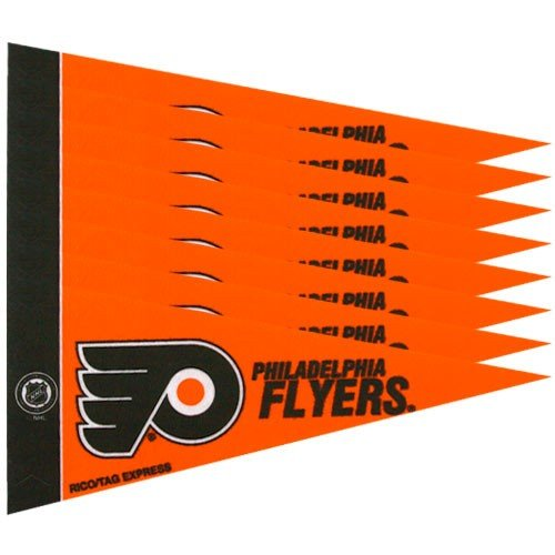 League Mini Pennant - NHL Flyers 8 Pc Mini Pennant Pack Sports Fan Home Decor, Multicolor, One Size