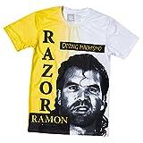 WWE Razor Ramon Oozing Machismo Retro T-Shirt Yellow 3XL