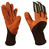 Wekoil Garden Genie Gloves,Gardening Gloves with Fingertips Claws For Digging and Rose Pruning,Breathable Digger Claws Gloves for Garden Fishing Clamming Restoration Work,1 Pair