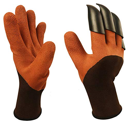 (WEKOIL Garden Genie Gloves,Gardening Gloves with Fingertips Claws for Digging and Rose Pruning,Breathable Digger Claws Gloves for Garden Fishing Clamming Restoration Work,1)