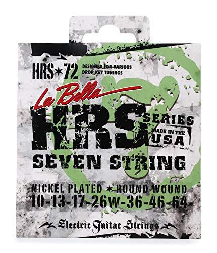La Bella HRS-72 Nickel 7-string Electric Guitar Strings - .010-.064 ()