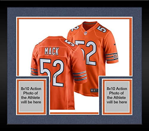Framed Khalil Mack Chicago Bears Autographed Nike Orange Game Jersey - Fanatics Authentic Certified - Autographed NFL Jerseys ()