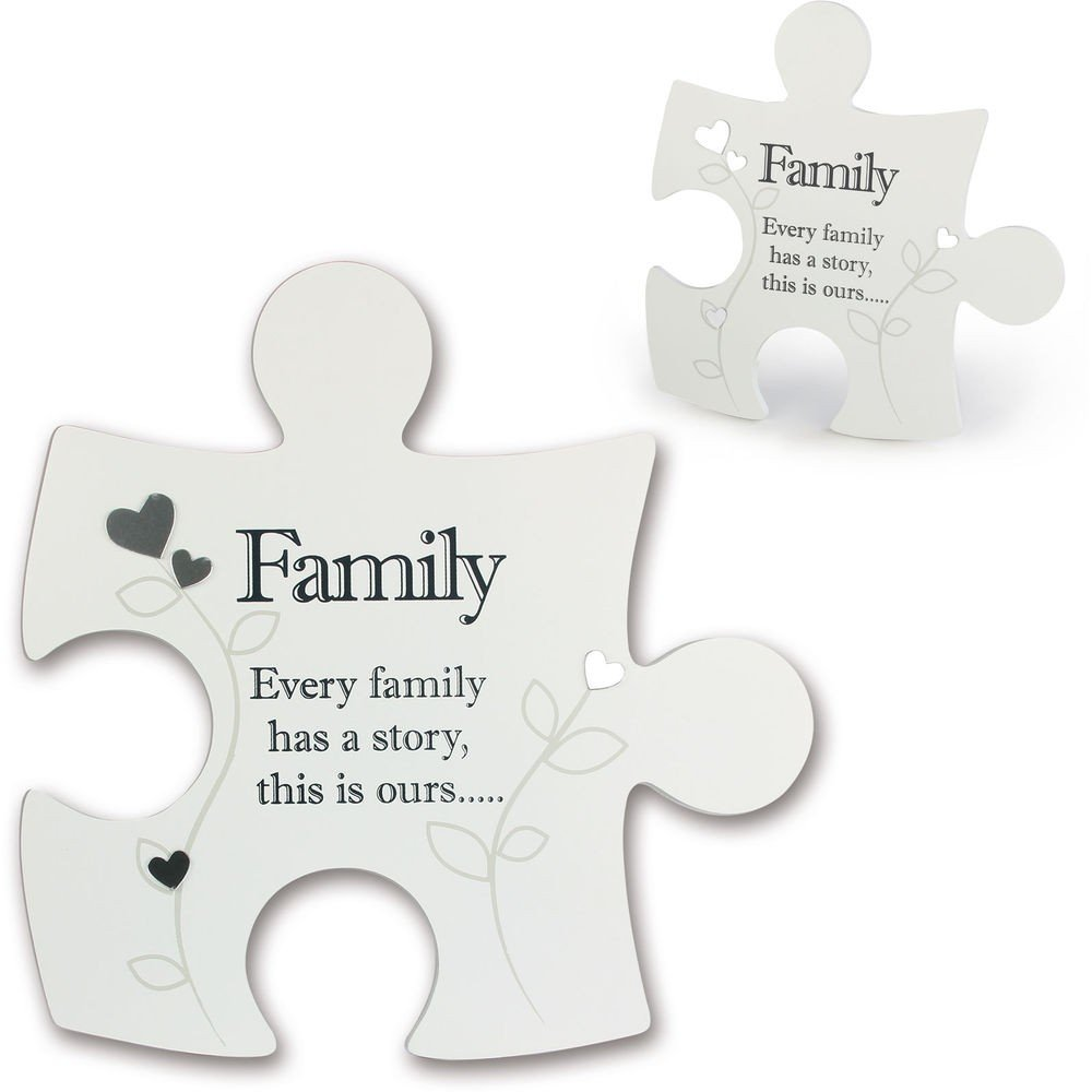 Jigsaw Wall Art ~ Said with Sentiment ~ Interlocking ~ FAMILY