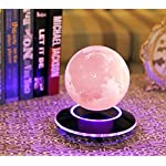 VGAzer Levitating Moon Lamp – Amazing Magnetic Technology – Night Light Floating and Spinning in Air Freely with Gradually Changing LED Light – Diameter 130 mm (5.12″)