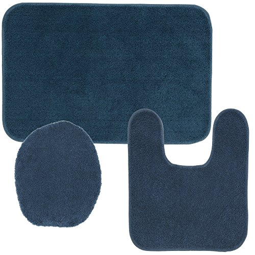 Mohawk Home Cascade Bath Mat Set, 1'8x2'6, Slate, 3 Piece
