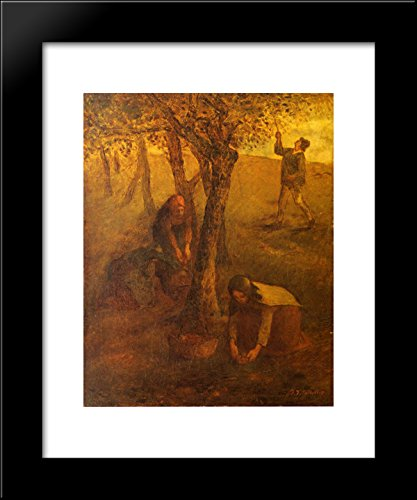 Gathering Apples 20x24 Framed Art Print by Millet, Jean-Francois ()