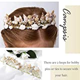 Campsis Princess Flower Wedding Headpiece Gold