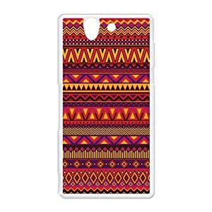 Aztec Series Personality Design Red Custom Luxury Cover Case with Plastic For HTC Desire 816