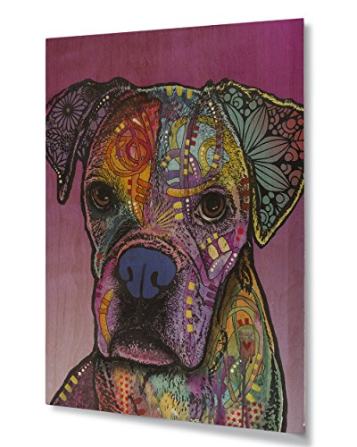 Pop Art Boxer - Dean Russo Gertie Custom-1 Printed on 11x14 Hard Wood Wall Art Decor