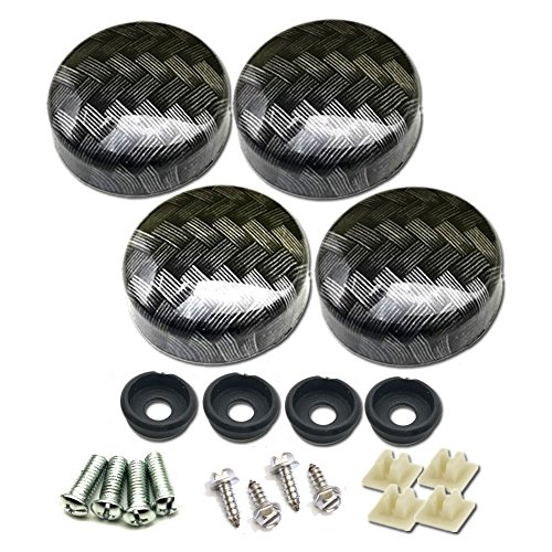 Aootf License Plate Fasteners Caps-Carbon Fiber Pattern for Matching Carbon Fiber License Plate Frame and Gift Plate Frame ()