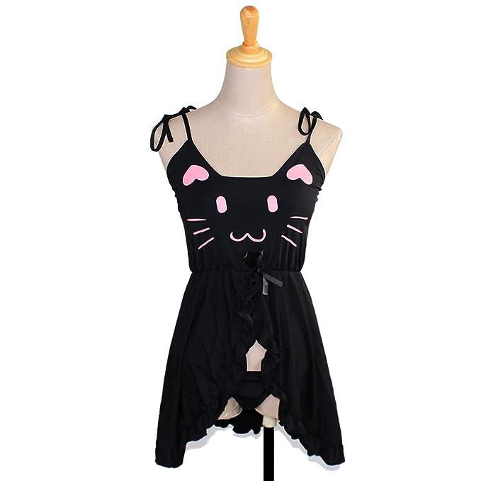 Amazon.com: Tomori para mujer lindo gato Cosplay lencería ...