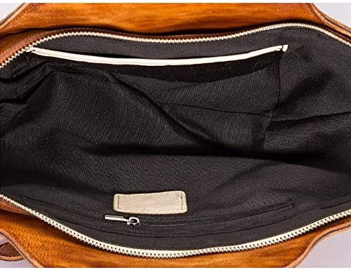 Vintage Echtleder Top-Handle Handtaschen Für Frauen Einzigartige Retro Style Scrubbing Und Carving Design