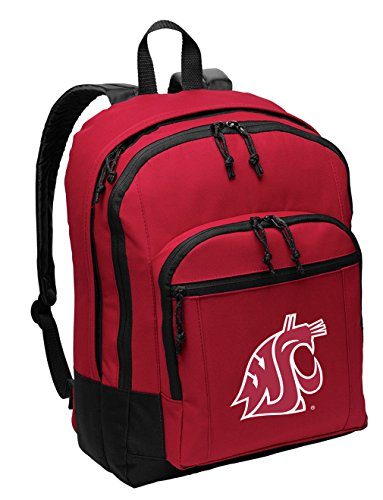 Broad Bay Washington State University Backpack Medium Classic Style with Laptop Sleeve