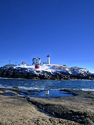 Winter at the Nubble Lighthouse 2, Cape Neddick, Maine (Cape Neddick Lighthouse)