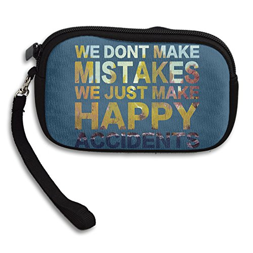 Bob Ross Wallet (No Mistake,just Happy Accidents Cellphone Bag / Wristlet Handbag / Clutch Purse / Wallet Handbag With Wrist Band For Adults And)
