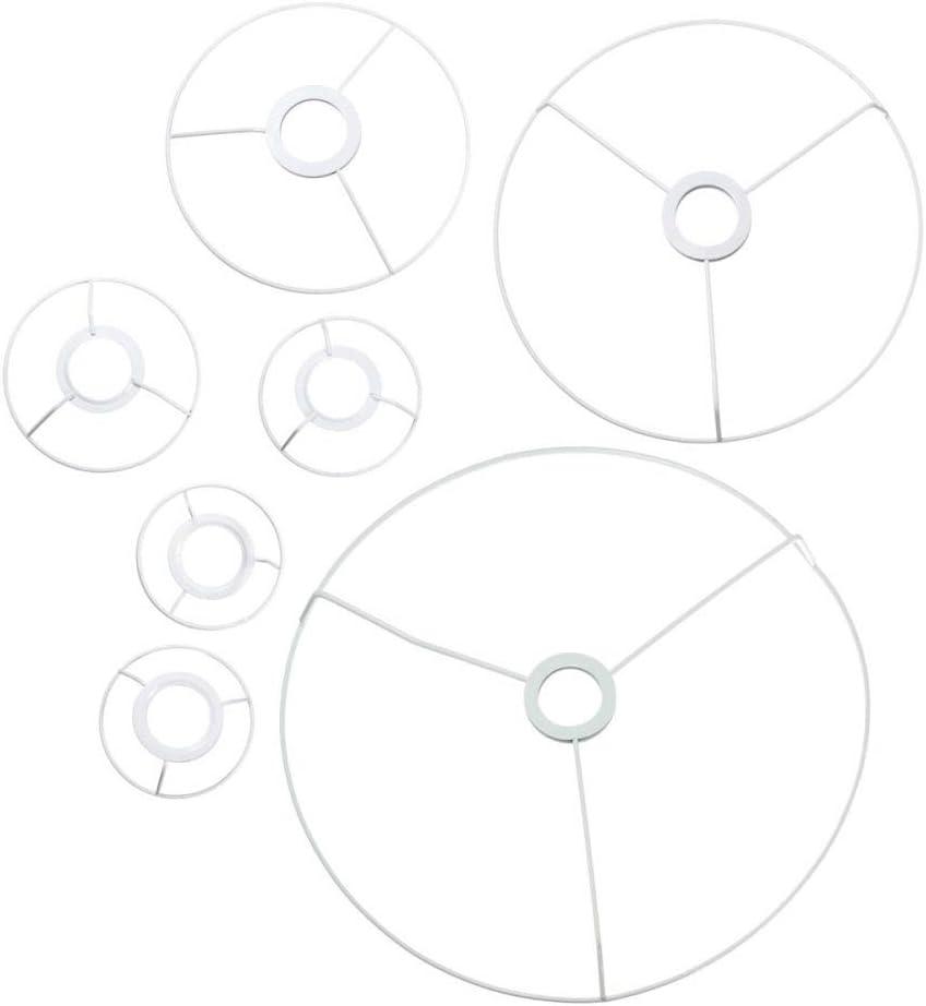 40cm di Diametro Chiaro Coprilampada Fanno DIY Kit Set di Ferro E27 Paralume Telaio YUANYUAN520 Paralume Paralume Circolare Telaio Anello 9.5//11//12//14//20//30 Body Color : 12cm