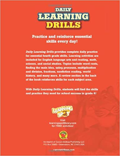 Daily Learning Drills, Grade 4: Brighter Child: 0044222233433 ...